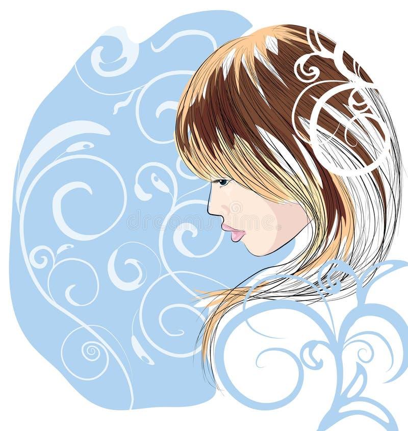 Portrait des schönen Mädchens stock abbildung