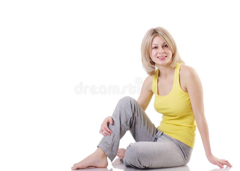Portrait des schönen Mädchens entspannend stockfotos