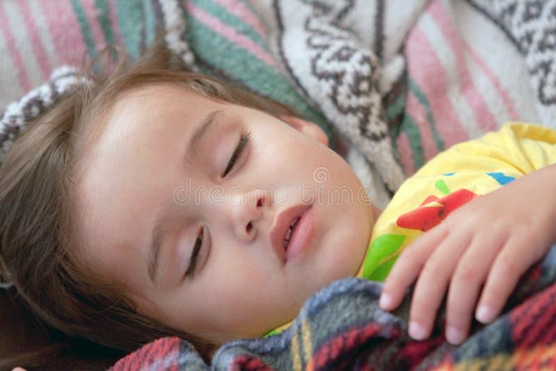 Portrait des schlafenden Kindes stockfotos