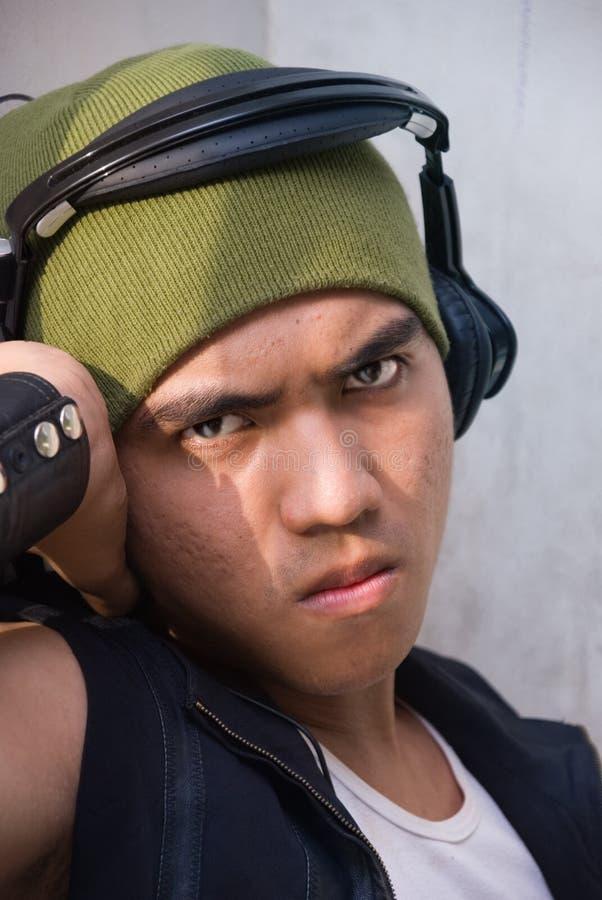 Portrait des städtischen Rappers stockbilder
