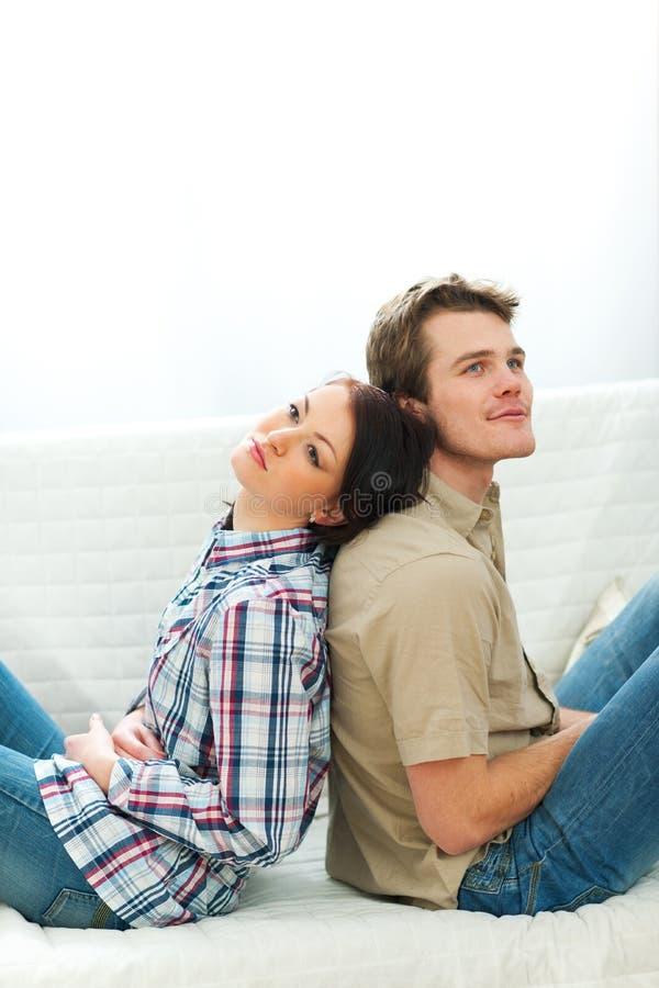 Portrait des Träumens der Paare stockfotos