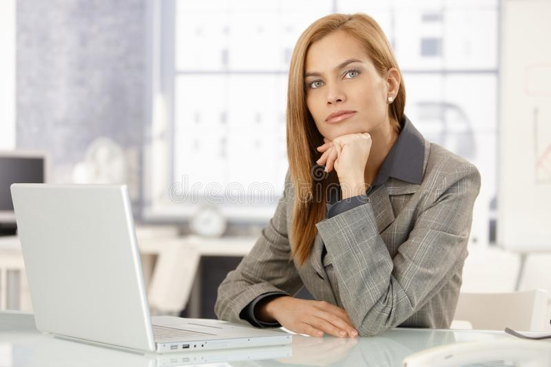 Portrait Of Determined Businesswoman Royalty Free Stock Photography