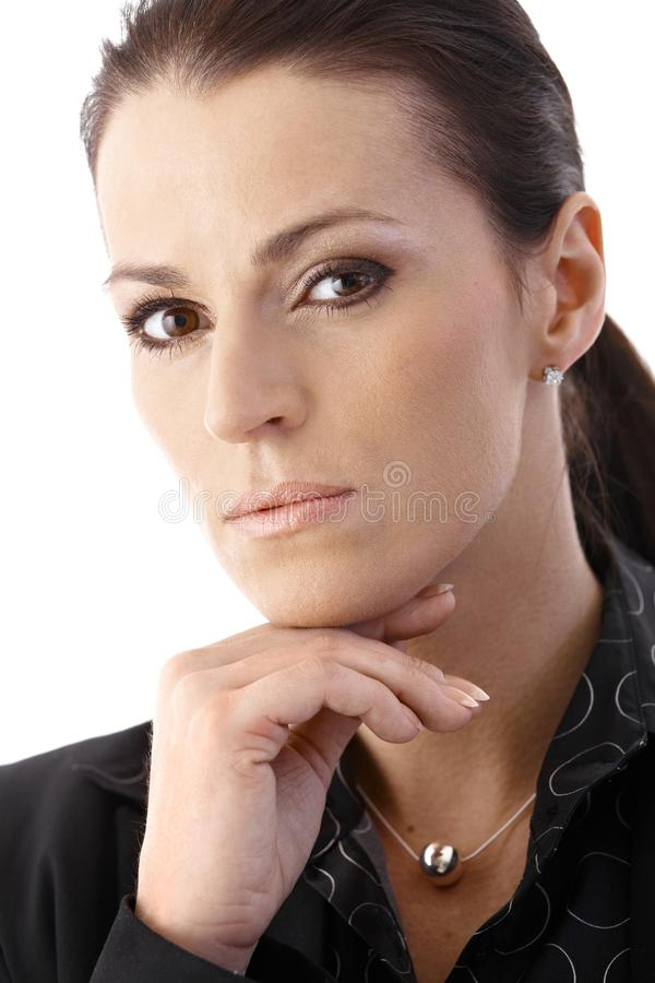 Download Portrait Of Determined Businesswoman Stock Photo - Image of close, contact: 20445004