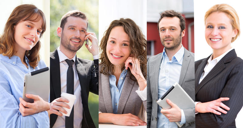 Portrait of different business people royalty free stock photo
