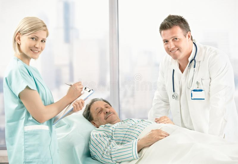 Portrait of doctor, nurse and patient royalty free stock image