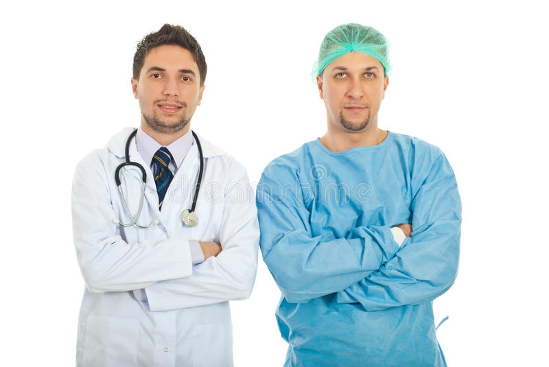 Portrait Of Doctor And Surgeon Royalty Free Stock Image