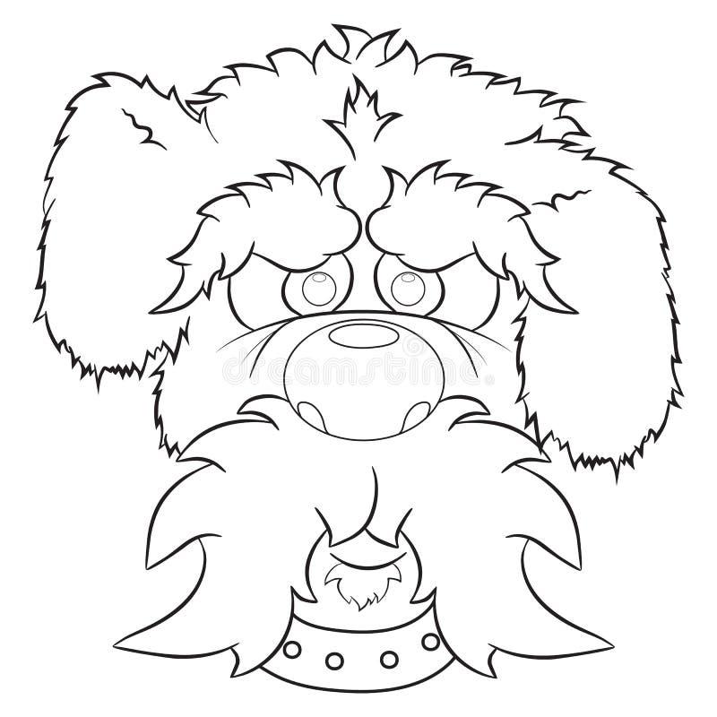 Portrait of dog illustration. Illustration of portrait of cute cartoon dog. Animal isolated on white background stock illustration