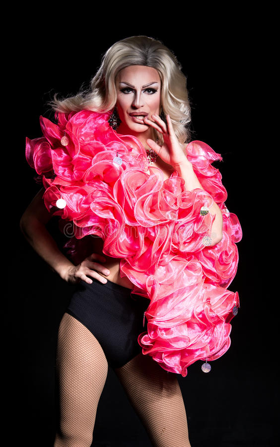 Portrait Of Drag Queen Stock Image Image Of Feminine