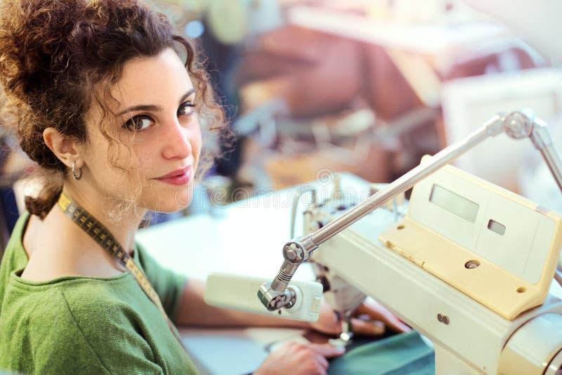 Portrait of a dressmaker royalty free stock photos