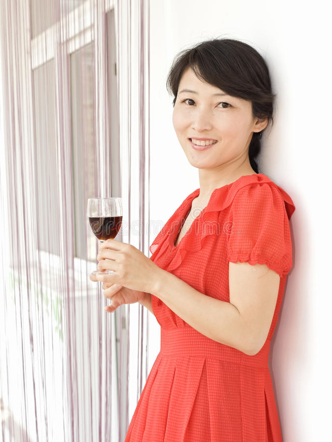 A portrait of a drinking girl stock images