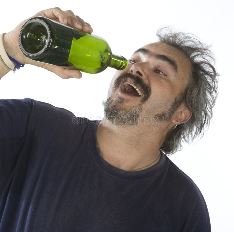 Download Portrait of a drunk man stock image. Image of hold, alcoholic - 6864779