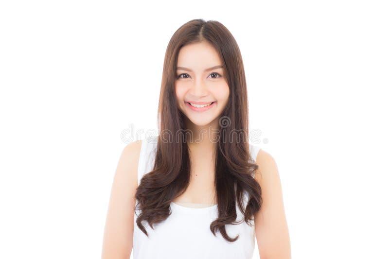 Portrait du beau maquillage asiatique de femme des cosmétiques photos stock