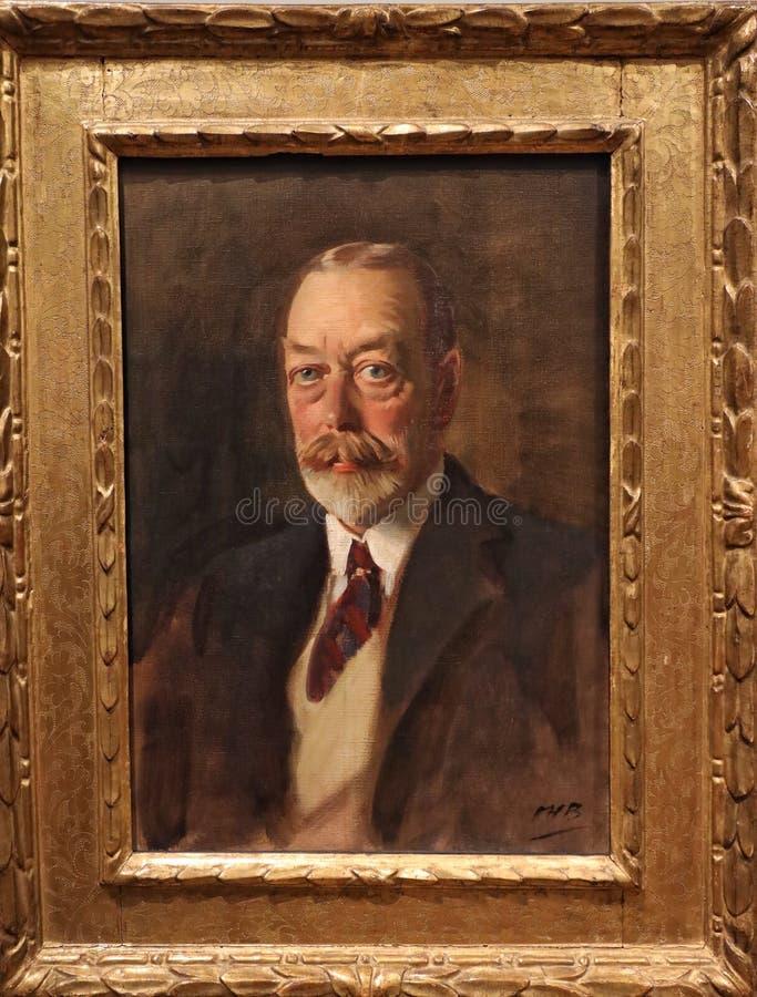 Portrait du Roi George V photos libres de droits