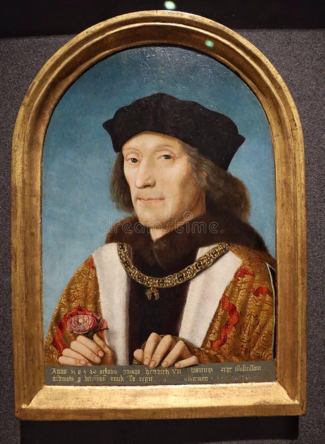 Portrait du Roi Henry VII photo stock