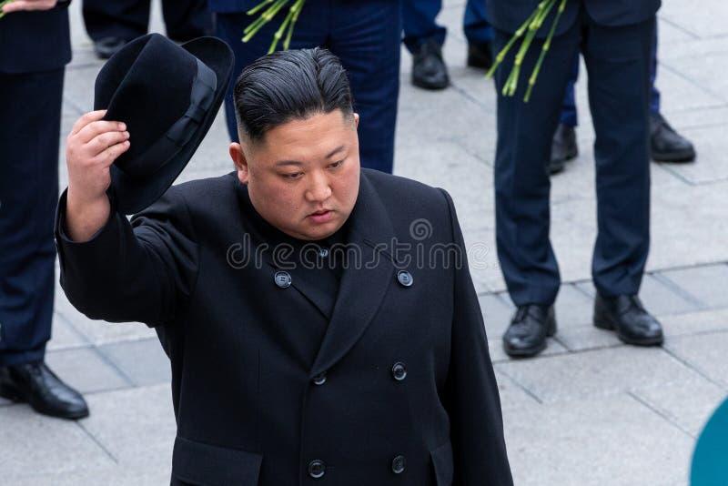 Portrait du secr?taire General du DPRK Cor?e du Nord Kim Jong Un photographie stock