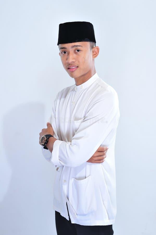 Portrait du sourire musulman beau d'homme photos libres de droits