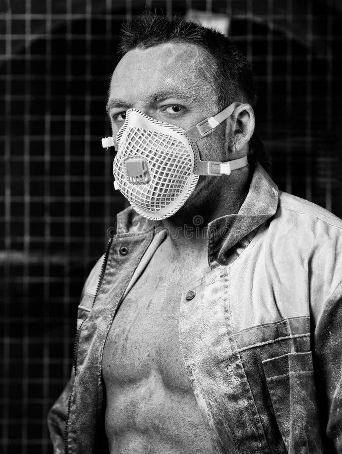 Portrait du vintage du travailleur images stock