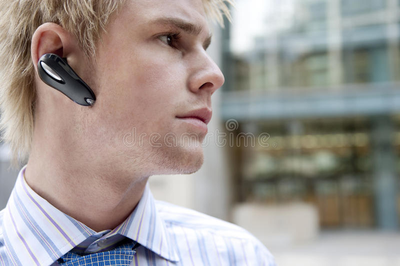 Download Portrait with Earphone stock image. Image of lines, outdoors - 25194483