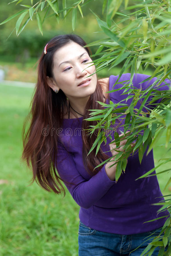 Portrait Of The East Asian Woman Royalty Free Stock Photography