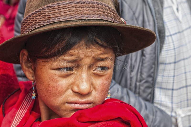 Portrait of Ecuadorian girl royalty free stock photography