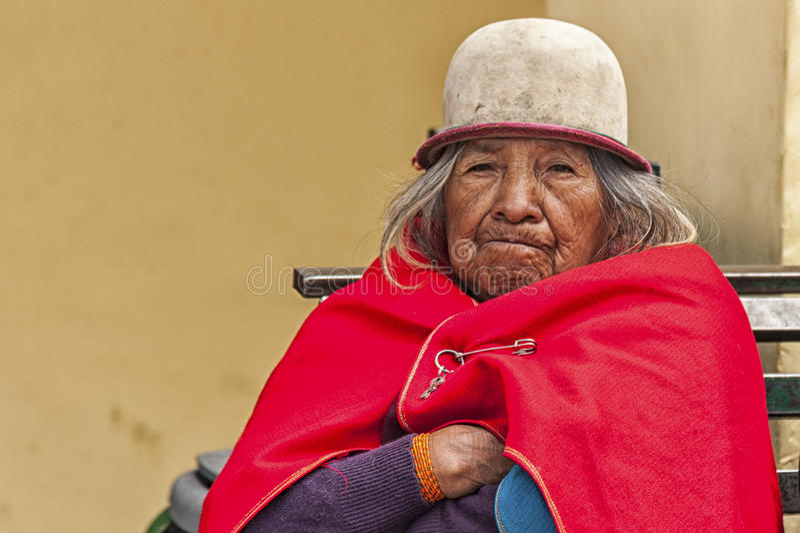 Portrait of Ecuadorian woman royalty free stock photo