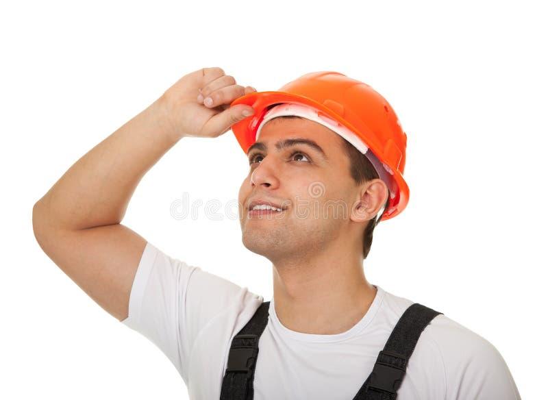 Portrait einer Arbeitskraft schaut Ost stockfoto