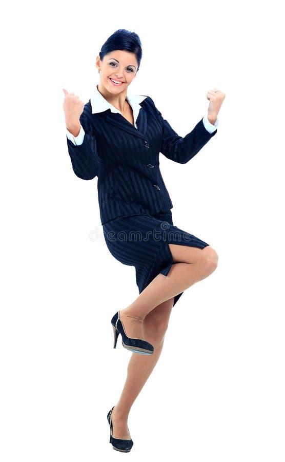 Portrait einer attraktiven Geschäftsfrau stockfotografie