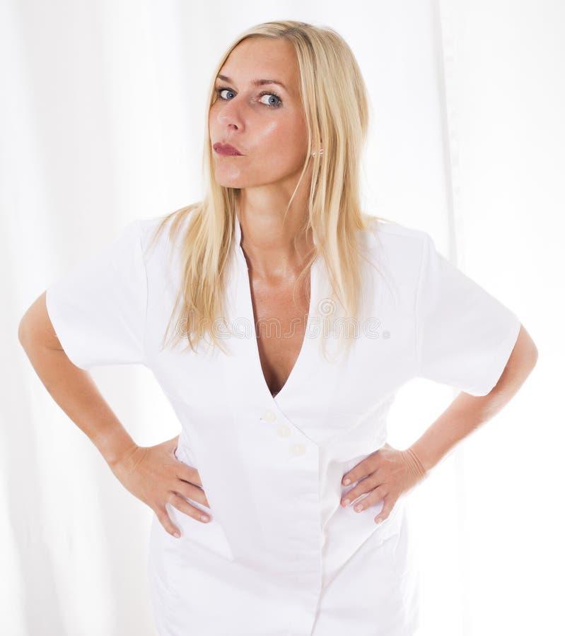 Portrait einer blonden Frau stockbilder