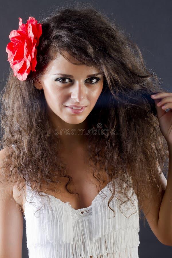 Portrait einer Frau stockfoto