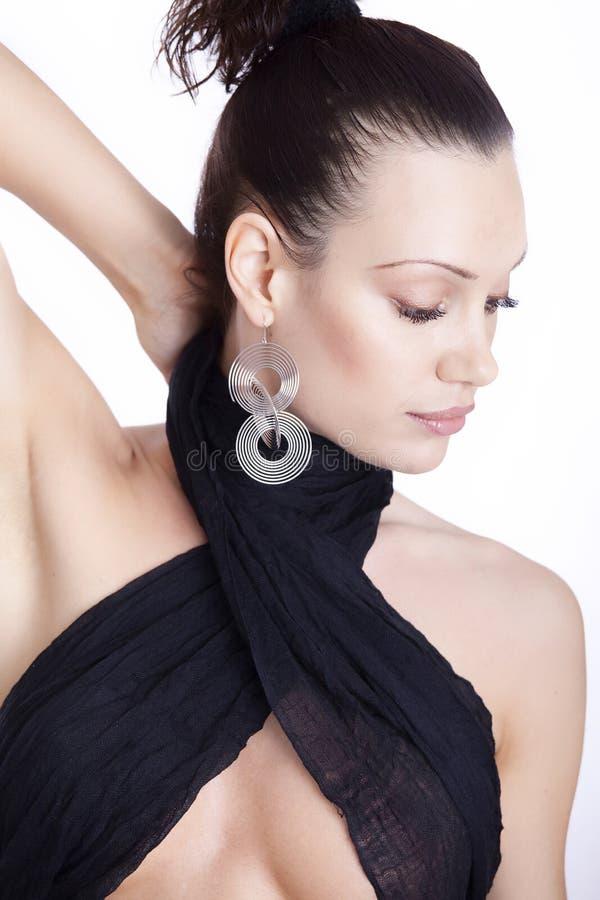 Portrait einer frischen und reizenden Frau stockbild