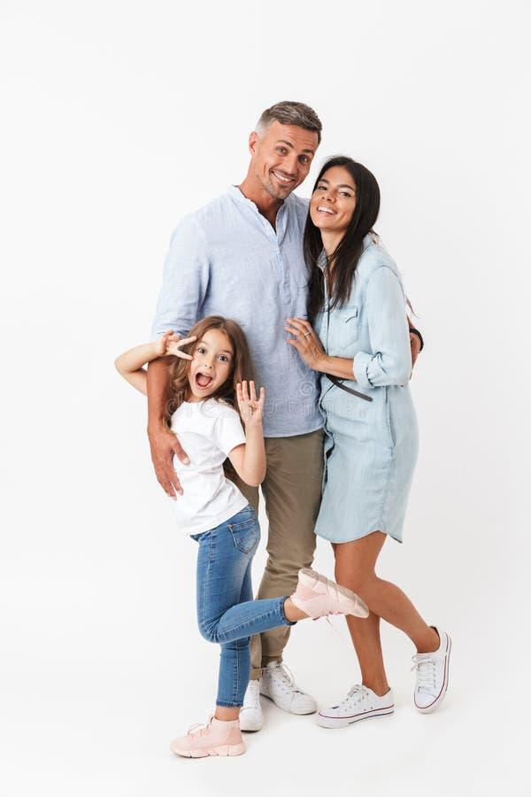 Portrait einer glücklichen Familie lizenzfreies stockfoto