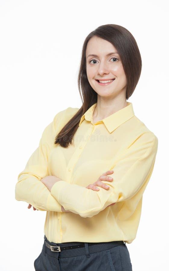 Portrait einer glücklichen jungen Frau stockfotos