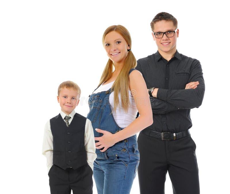 Portrait einer glücklichen lächelnden Familie stockfotografie