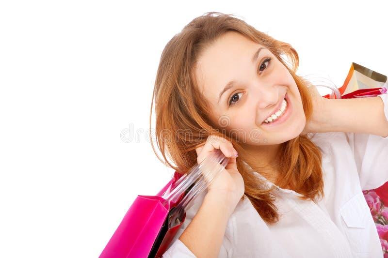 Portrait einer Holding der jungen Frau lizenzfreies stockfoto