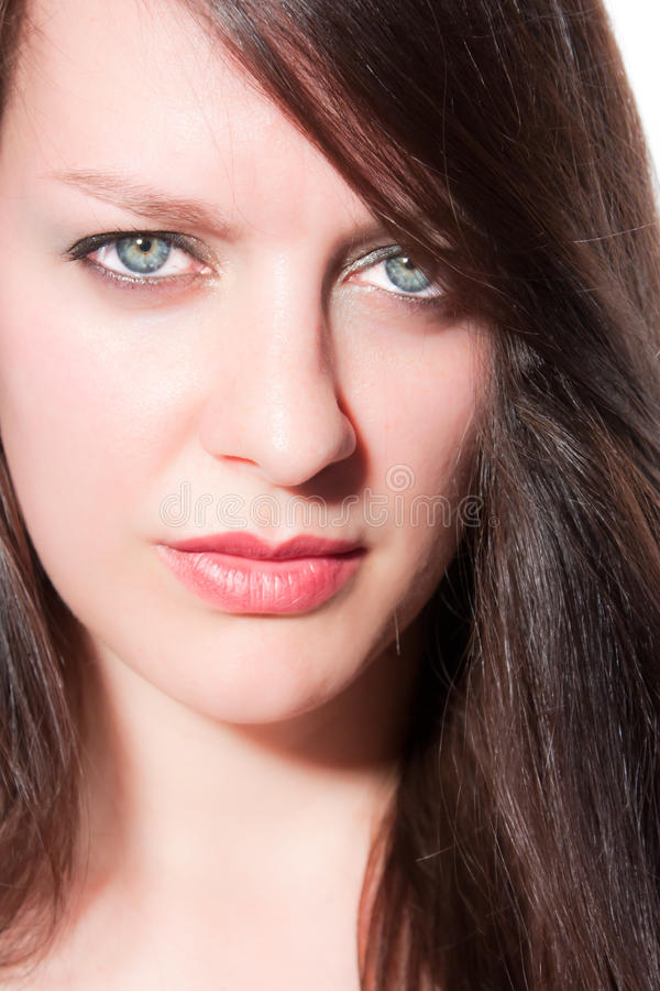 Portrait einer jungen Frau stockbilder