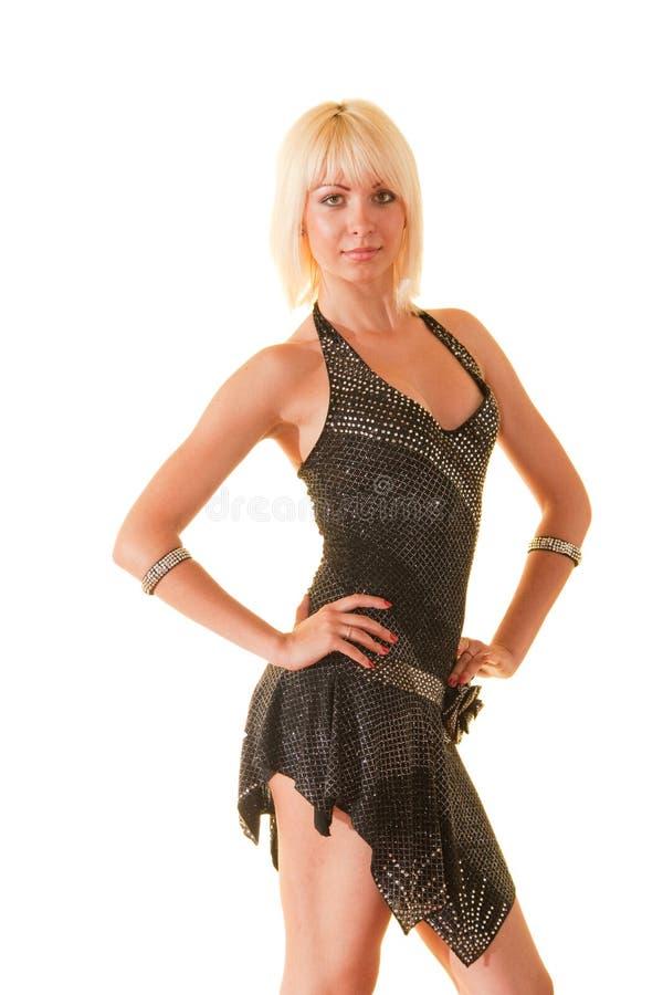 Portrait einer jungen Frau im Tanz lizenzfreies stockbild