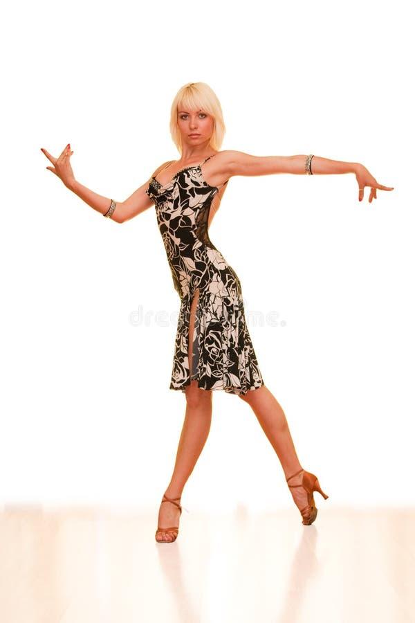 Portrait einer jungen Frau im Tanz stockfoto
