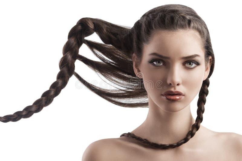Portrait einer jungen Frau mit einem kreativen lizenzfreie stockfotografie