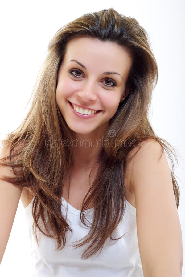 Portrait einer lächelnden Frau stockbild