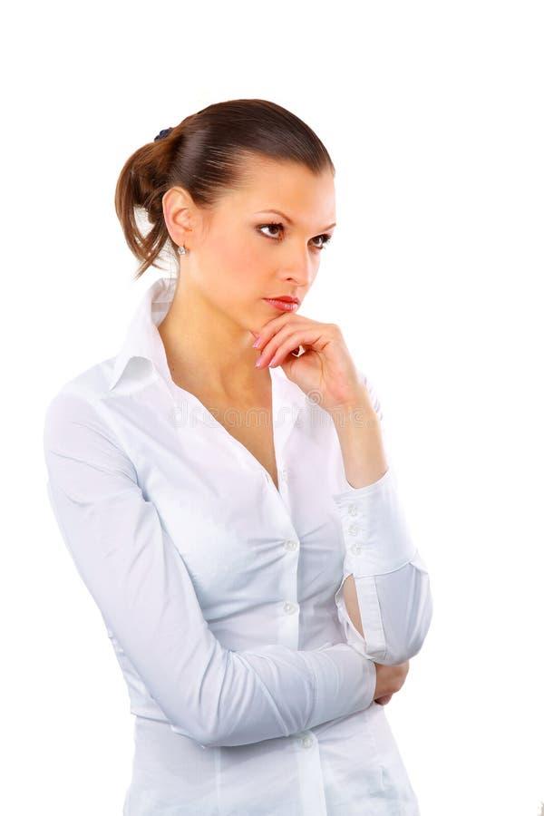 Portrait einer recht jungen Geschäftsfrau lizenzfreies stockfoto