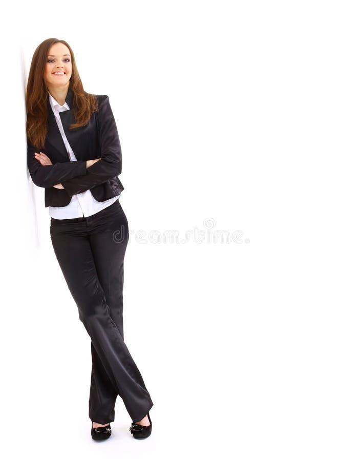 Portrait einer recht jungen Geschäftsfrau stockfotos