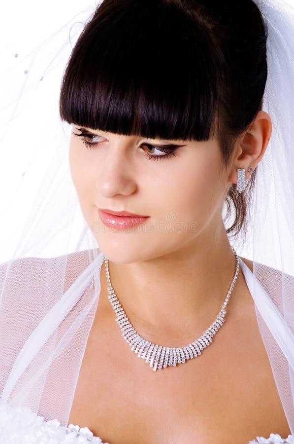 Portrait einer schönen Braut lizenzfreie stockfotografie