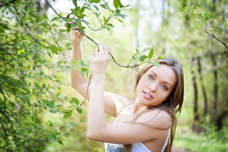 Portrait einer schönen jungen Dame stockfoto