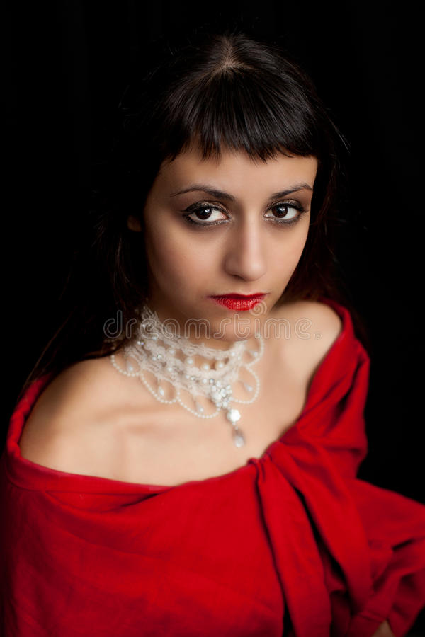 Portrait einer schönen jungen Frau, lizenzfreies stockbild