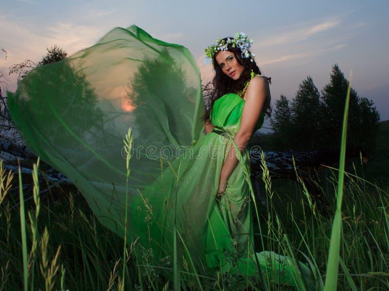 Portrait einer schönen jungen Frau draußen lizenzfreie stockfotos