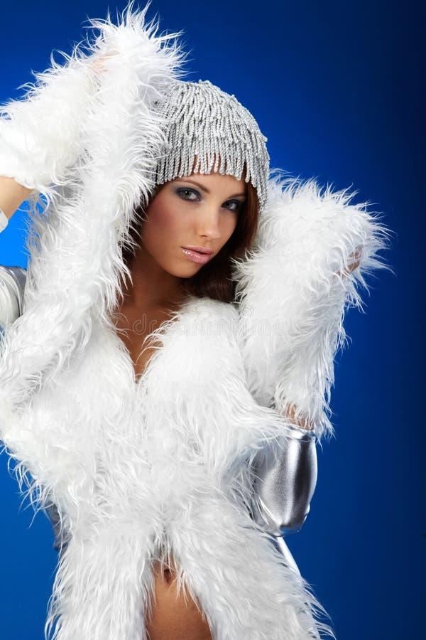 Portrait einer Winterfrau, stockbilder