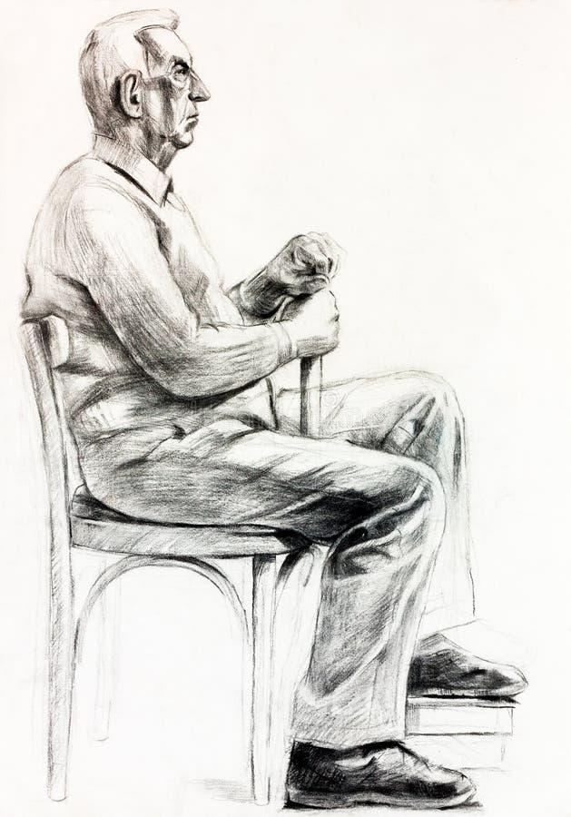 Download Portrait Eines älteren Mannes Stock Abbildung - Illustration von farbe, hintergrund: 27729560