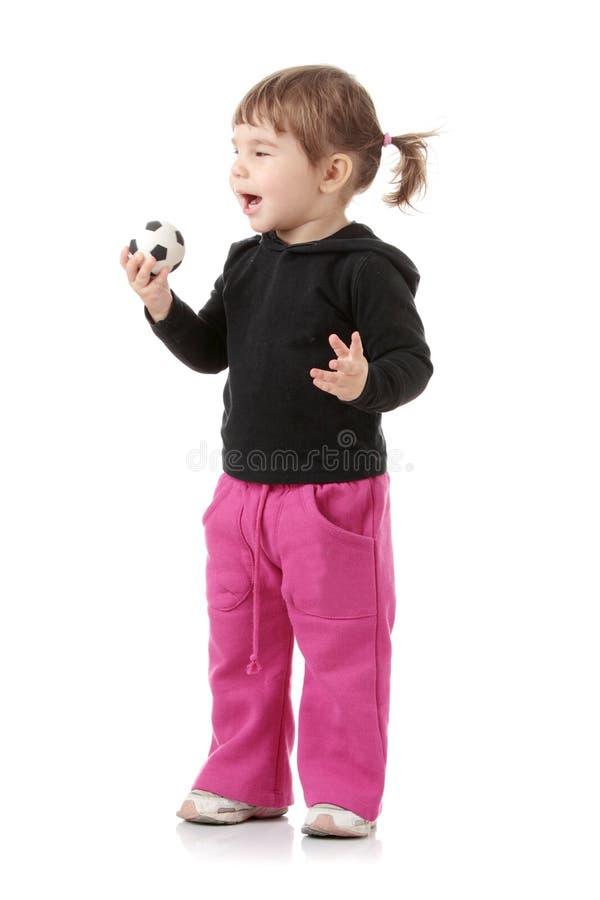 Portrait eines 2 Einjahresmädchens lizenzfreie stockbilder