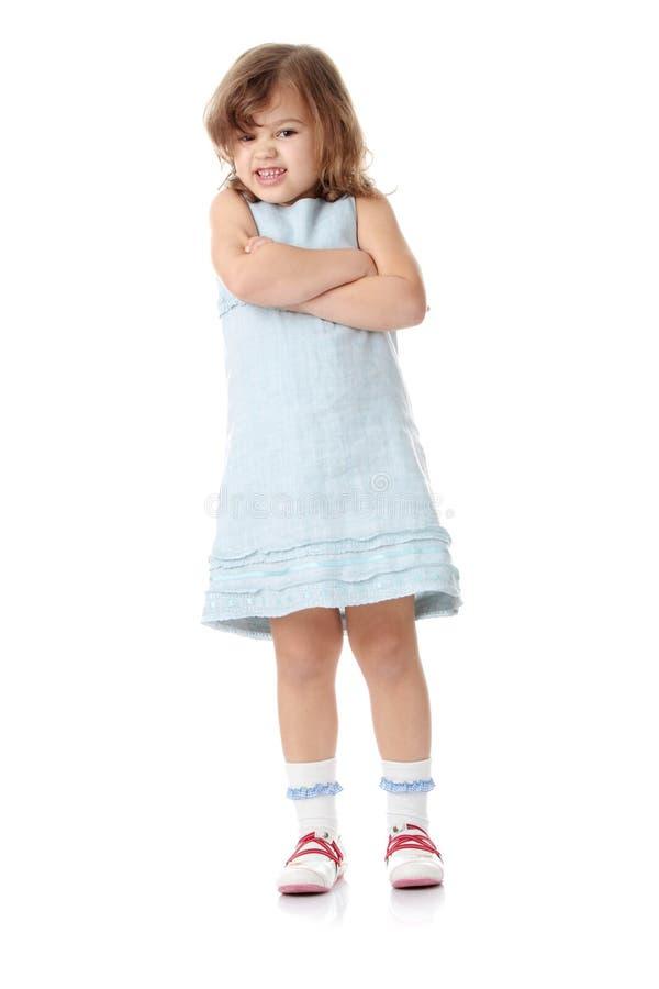Portrait eines 5 Einjahresmädchens stockfoto