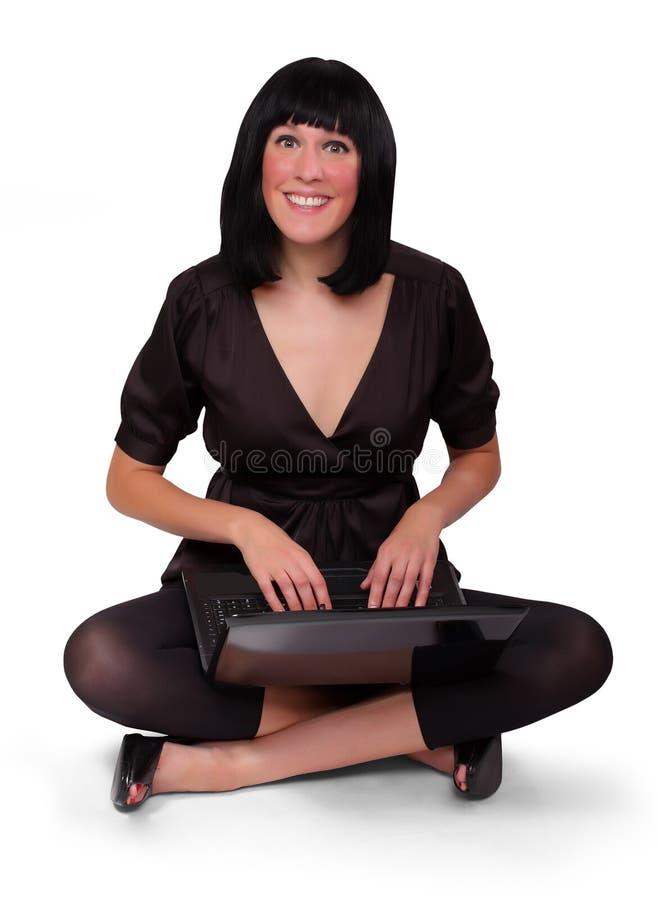Portrait eines attraktiven Geschäftsmädchens lizenzfreies stockbild